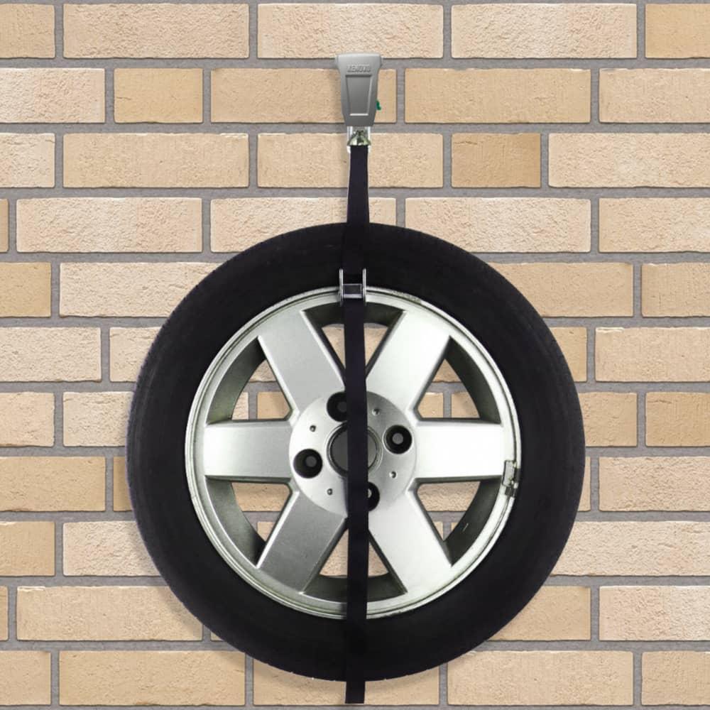 Підвіс для зберігання колеса на стіні