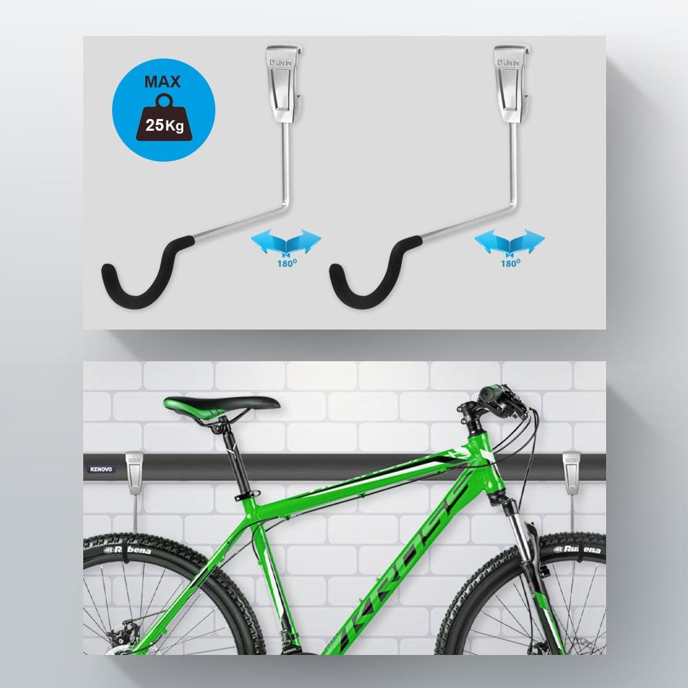 Тримачі для горизонтального зберігання велосипеда