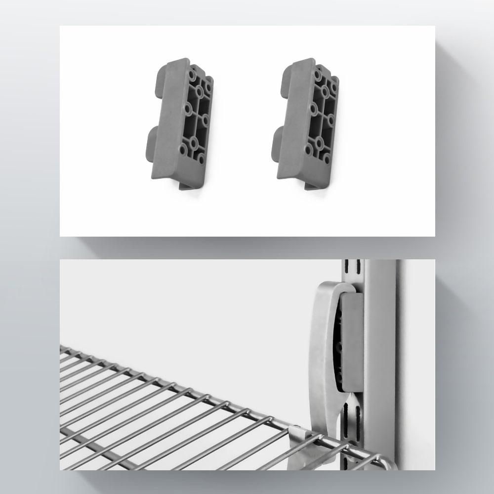 Блок для кріплення кошика до стелажа