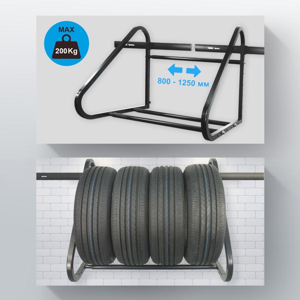 Стелаж для зберігання колес та шин